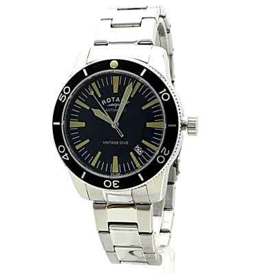 mens rotary exclusive vintage dive automatic watch gb00488 05