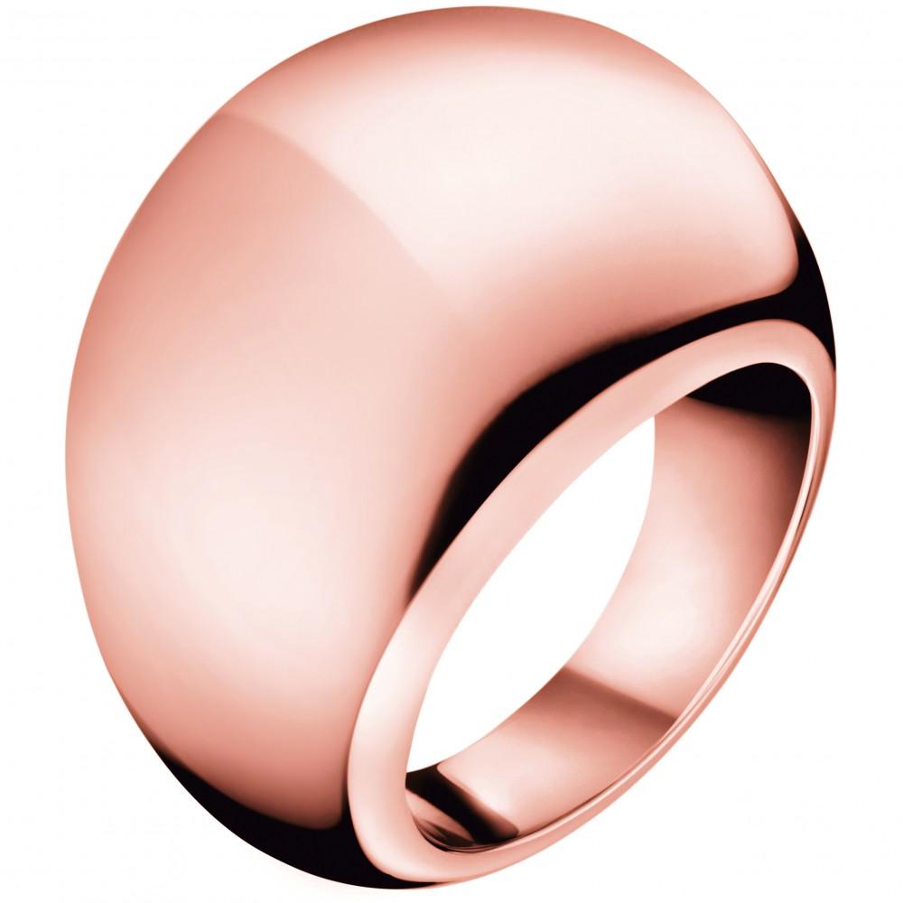 Ladies Calvin Klein PVD rose plating Size P Closed Ring KJ3QPR100108